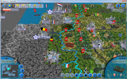 Aggressors screenshots - 3D Turn Based Strategy - German attack on France