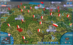 Aggressors screenshots - 3D Turn Based Strategy - Poland before attack