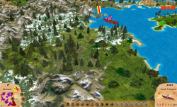 Aggressors screenshots - 3D Turn Based Strategy - detail of terrain