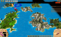 Aggressors screenshots - 3D Turn Based Strategy - Detail of archipelago