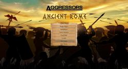 Aggressors screenshots - 3D Turn Based Strategy - Úvodní obrazovka modu Starověkého Říma
